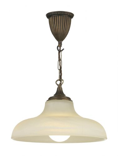 1-light Made in the Cotswolds Bronze Finish Badger Pendant Light BAD0163 (Class 2 Double Insulated)